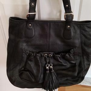 Ann Taylor Loft Black Leather Bag